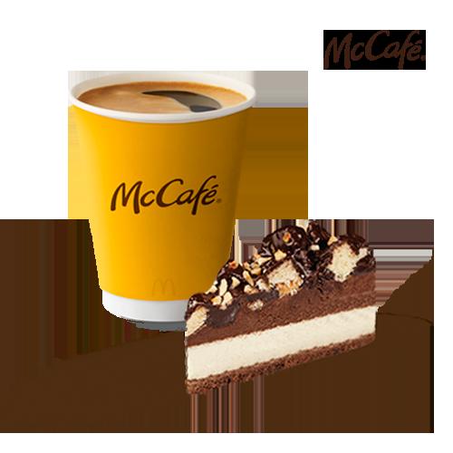 შოკოლადის შავ-თეთრი ტორტი + ამერიკანო