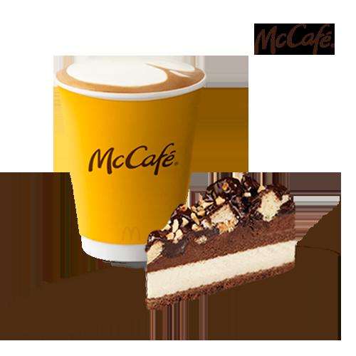 შოკოლადის შავ-თეთრი ტორტი + კაპუჩინო